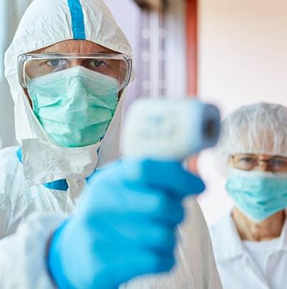 Prévention du risque biologique lors de la décontamination contre le COVID19